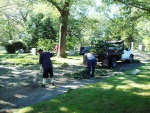 Cleanup following Hurricane Irene