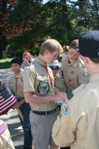 Star Scout, Travis Sampson directs the scouts in the replacement plan.